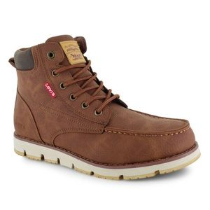 Levi's Men's Dean Waxed moc-toe boot Brown